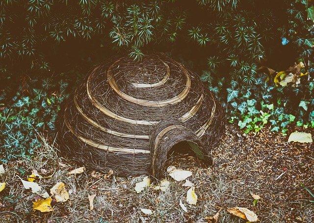 Igelhaus in der Gartenecke (Bild von Alexas_Fotos bei Pixabay)
